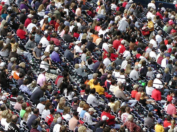 Spectators at Atlanta Braves game