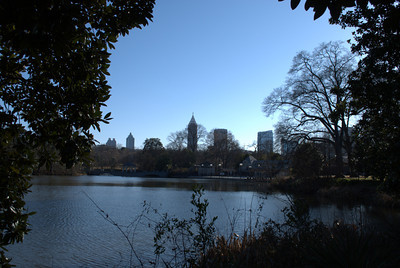 Midtown skyline as seen from across the pond at Piedmont Park
