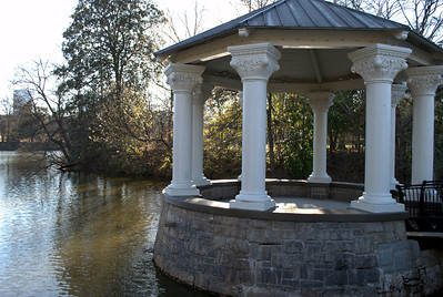 Pavilion on the pond at Piedmont Park