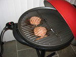 Cooking hamburgers