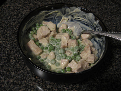 Chicken and peas with yogurt curry