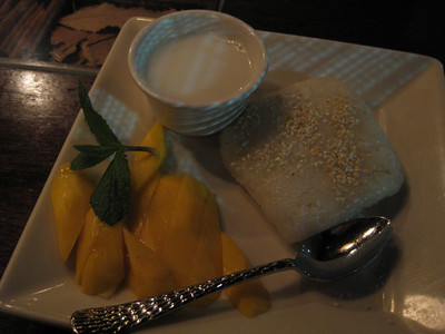 Sticky rice mango at Top Spice