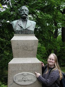 me with William S. Clark statue