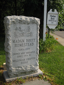 Madam Brett Homestead sign