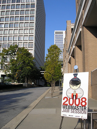 PHOTO: Webmaster Jam Session sign on Courtland in Atlanta