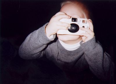 Connor taking a picture of me taking a picture with a disposable camera