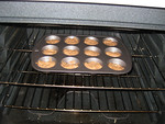 baking the muffins