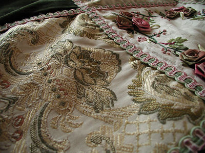 the beautiful quilt on our bed